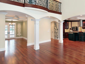 remodeled wood flooring